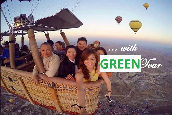 Cappadocia Balloon Flight at Sunrise with Green